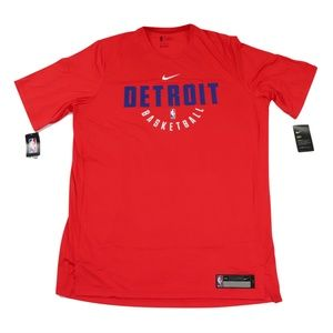 New Nike NBA Detroit Pistons Team Issued Shirt Red